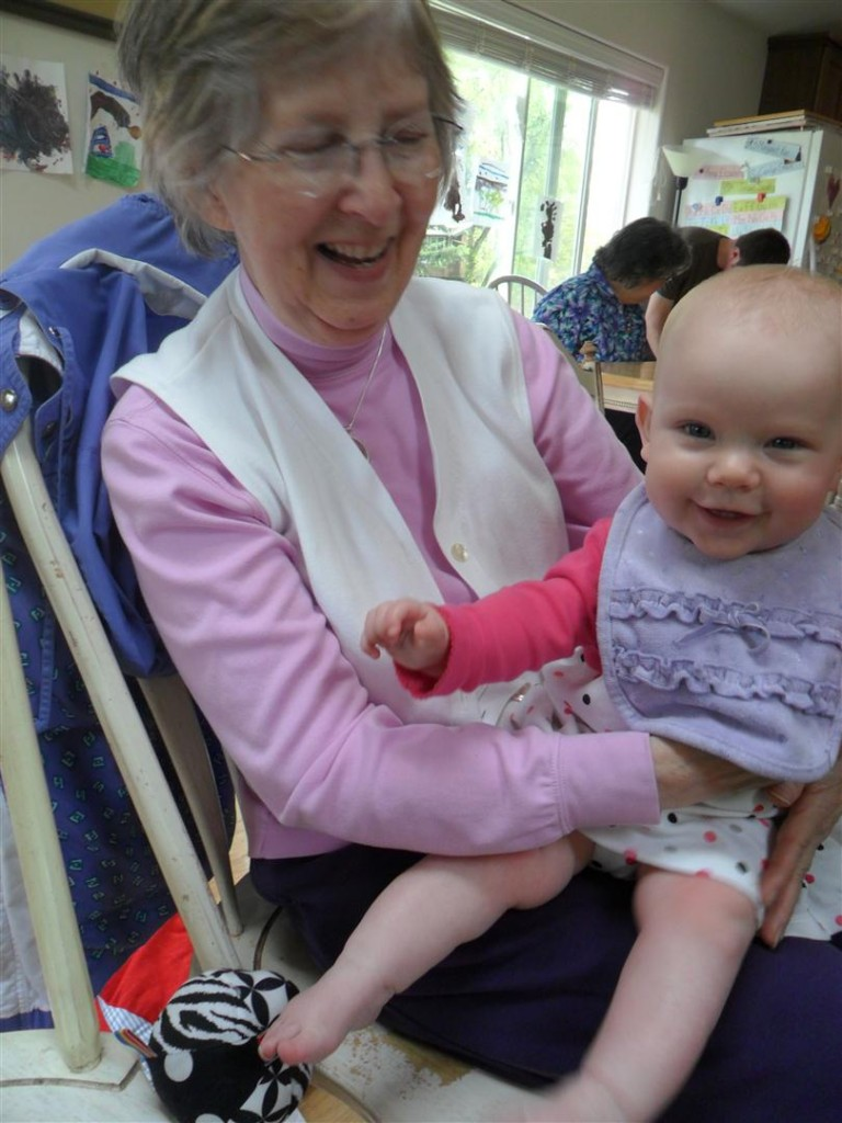 Great-Grandma cuddles