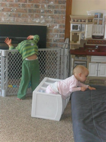 Goofy kids.