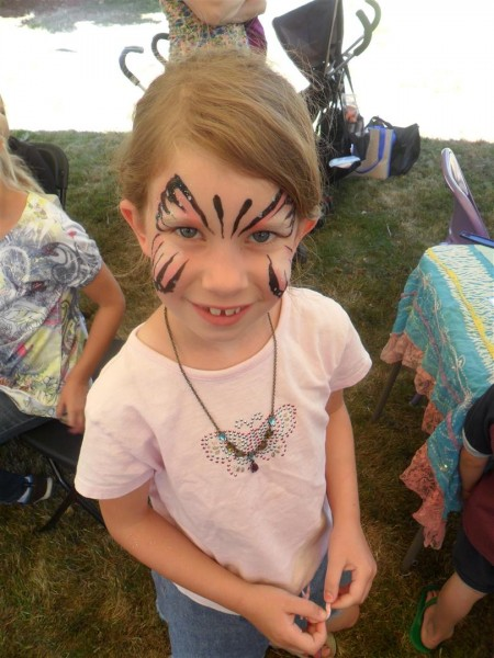 Free, lovely facepaint!