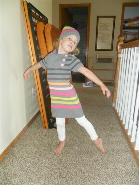 Ballet pose!