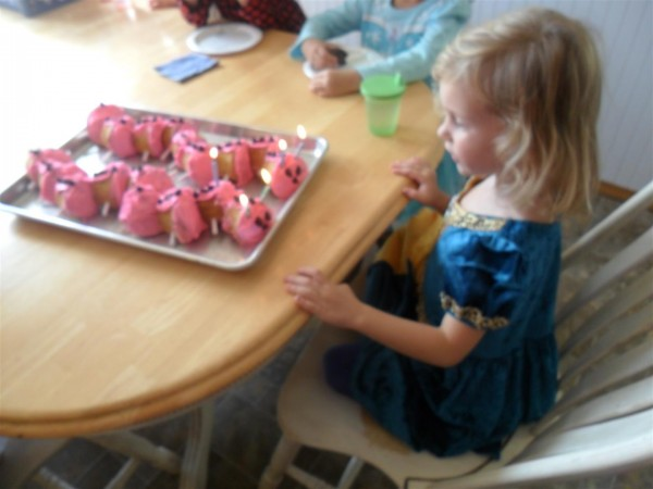 Birthday girl turns five!