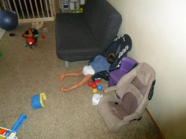 No.... I do no know why Jordan fell asleep like this!