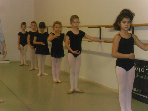 Anna at the barre