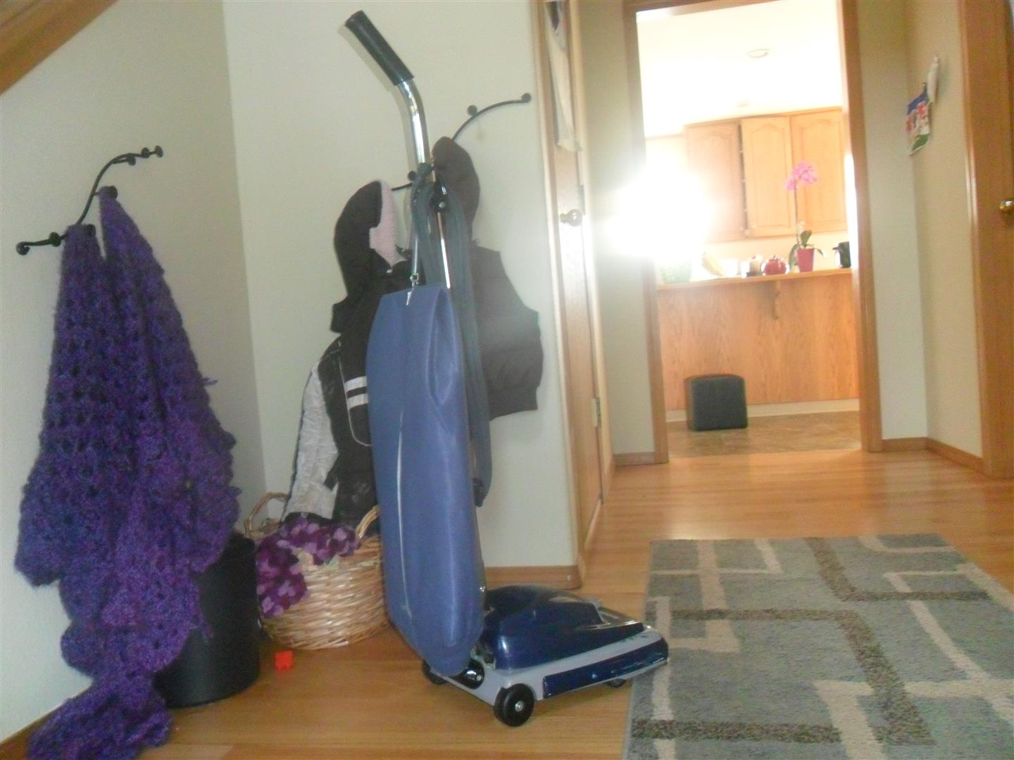 Our loaner vacuum. SO HAPPY to have my vacuum back from the shop!