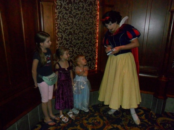 Snow White! I love how all the princesses were in character and so friendly and chatted with the kids.