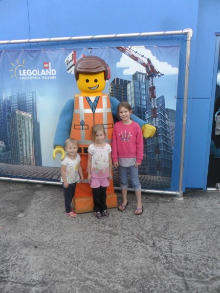 We met Emmet! (There's a man in that suit)