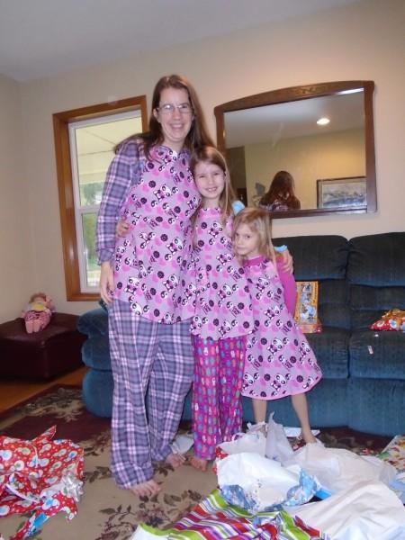 Great-Grandma Hooge made us matching aprons!