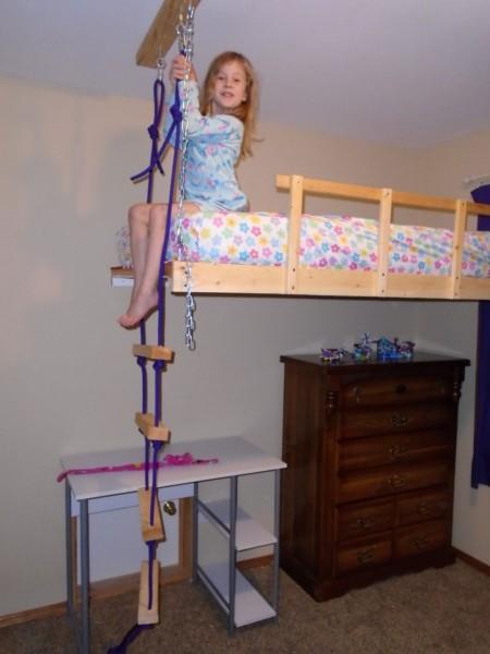 Rope ladder!