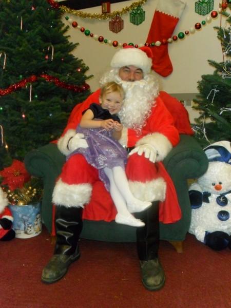 Carolyn with Santa!