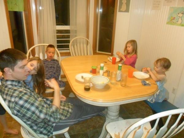 Random dinnertime picture.