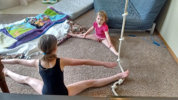 """They were doing ballet or gymnastics """"class."""" I don't remember."""