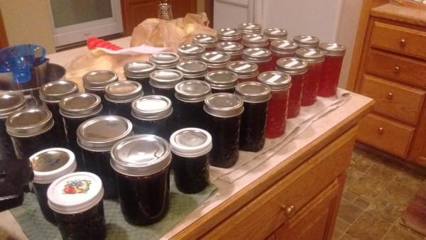Blackberry and plum jam.
