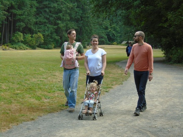 It was warm, but not hot and we all went to the park for a nice walk.