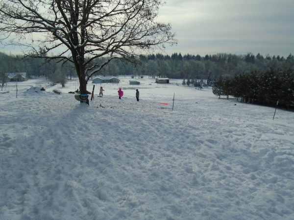 The sledding hill.